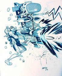 Deadpool commission by JHarren