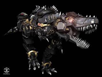 Xeltecon Dinobot Altmode by xeltecon