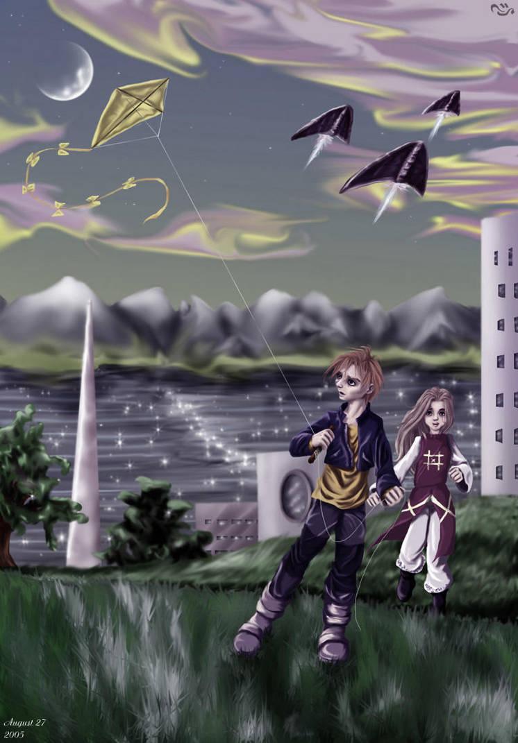 Kite flying by kian