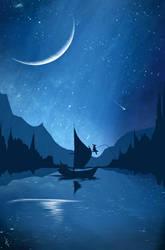 Night Fishing by Winerla
