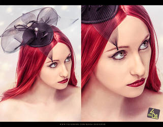 Girl with a fascinator (Retouch) by Im-MoOokA