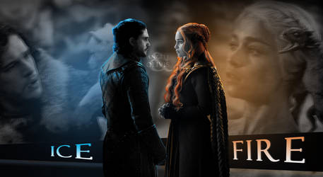 Jon and Daenerys    Ice and Fire by oliv-15