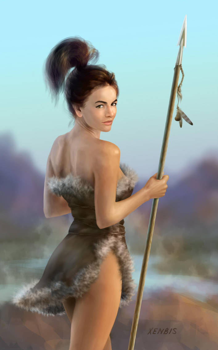 Camilla Belle with Spear by xenbis