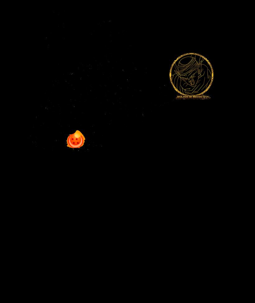 Goku y nube lineart by warren-morelos