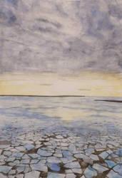 Sunset on ice by KorsonOraakkeli