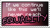 Stamp_We'll never reach equality by Chivi-chivik