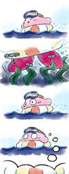 Kirby_Dreaded seaweed by Chivi-chivik