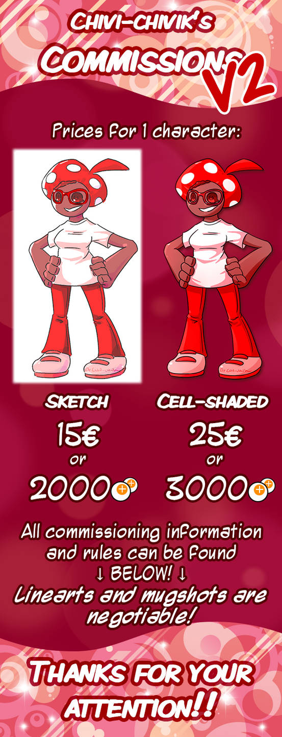 Commissions are OPEN! - Price list version 2 by Chivi-chivik