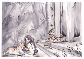 How tigers get there stripes by sofie-arts
