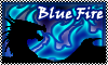 stamp DRAGON ELEMENT blue fire by StephDragonness