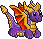 Pixel: Pixel Emoticon ~ Spyro the Dragon