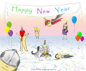 Crisis Core New Year by Ardwynna-Morrigu