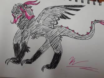 My oc levex as a dutch angel dragon by huwata