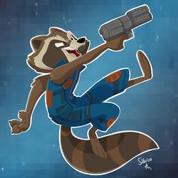 Rocket Raccoon by Sibsy