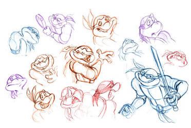 Turtle Doodles by Sibsy