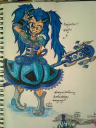 Magical Girl Evylln by amadarian
