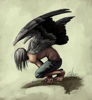My Vulture by porcelianDoll