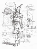 ''Daily'' sketch - Cat Wench by 0laffson