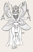 ''Daily Sketch'' - Death Goddess by 0laffson