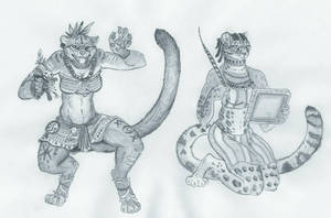 Jungle Cats  by Zaphkiellane