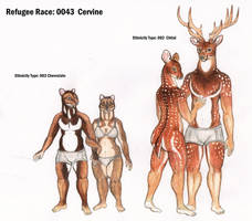 Cervine race by Zaphkiellane