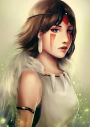 Mononoke Hime by E-tane