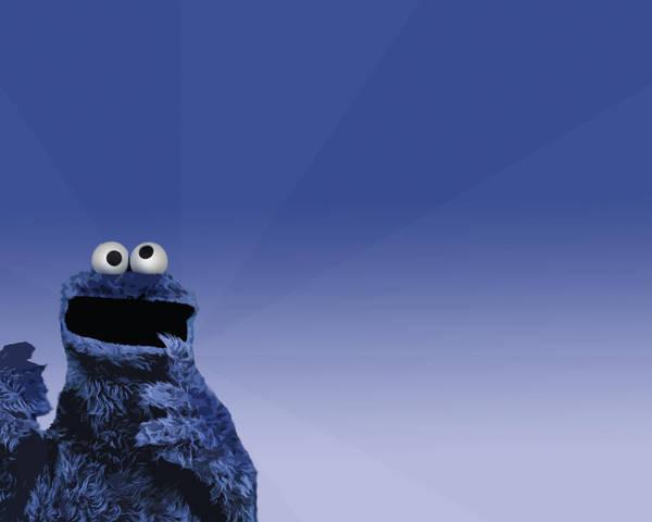 Cookie Monster Wallpaper by elmhoe