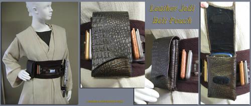 Small Leather Jedi Belt Pouch by Verdaera
