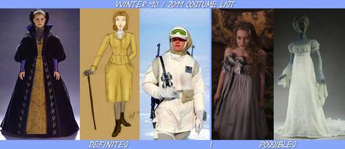 Winter '10: 2011 Costume List by Verdaera