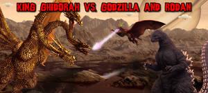 KWC Banners - KG (H) vs. Goji (H)+Rodan (H) by KaijuX