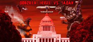 KWCB - Godzilla (H) vs. Bagan (2/3) by KaijuX