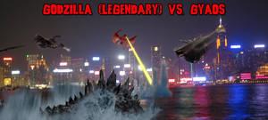 KWCB - Godzilla (L) vs. Gyaos (H) by KaijuX