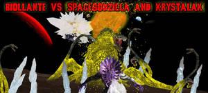 Alternate Banner - Biollante vs. SpaceG+Krystalak by KaijuX