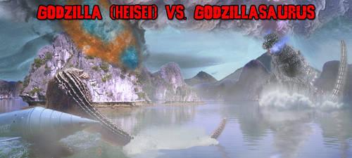 KWCB - Godzilla (H) vs. Godzillasaurus by KaijuX