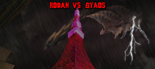 KWCB - Rodan vs. Gyaos by KaijuX