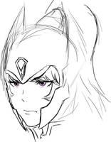 Grumpy Luna sketch by Maniac-KageSenshi