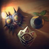 Legend of Zelda replica masks by Legendofzanon