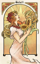 Art Nouveau Soleil by missmoltobene
