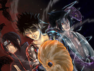 Team Uchiha by blacknoise