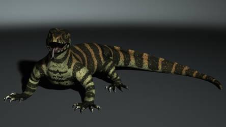Nile Monitor Lizard WIP by Onni-Hitsok