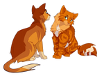 Firebounce and Firestar by meow286