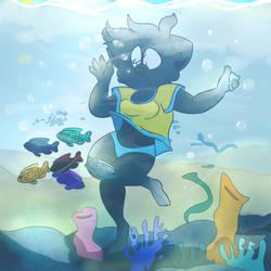 Swim by ddddspup