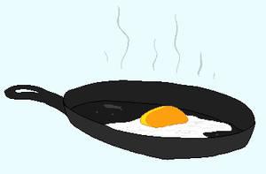 egg in a pan by ddddspup