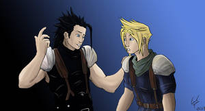FFVII - Zack and Cloud updated by Syrphin