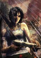 Lara's first gun by Syrphin