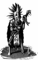 Aztec Priest by Syrphin
