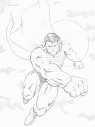 Superman with background (ipad pro) by Ernestjoel