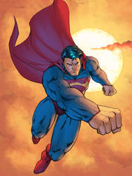 Superman with color by Ernestjoel