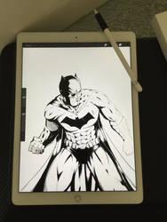 WIP Batman ink by Ernestjoel