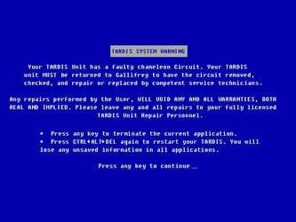 TARDIS Blue Screen O' Death by Carthoris